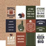 Echo Park Football 3X4 Journaling Cards Patterned Paper