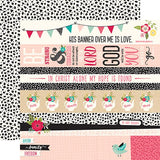 Echo Park Forward With Faith Border Strips Patterned Paper