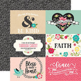 Echo Park Forward With Faith 6X4 Journaling Cards Patterned Paper