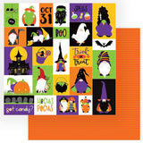Photoplay Paper Gnome for Halloween Trick Or Treat Patterned Paper