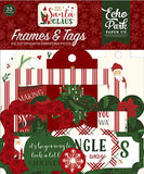 Echo Park Here Comes Santa Claus Frames & Tags Embellishments
