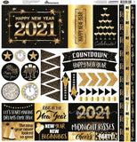 Reminisce Happy New Year 12x12 Elements Sticker Sheet