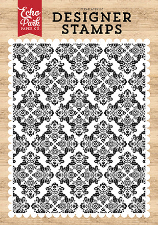 Echo Park I Love Christmas Christmas Delight A2 Background Designer Stamp