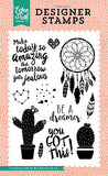 Echo Park Just Be You Be a Dreamer Stamp Designer Stamp Set
