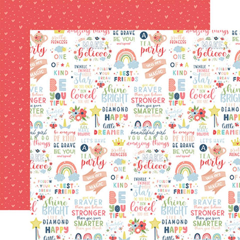 Echo Park Little Dreamer Girl You Are Magic Patterned Paper