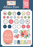 Echo Park Little Dreamer Girl Adhesive Brad Embellishments