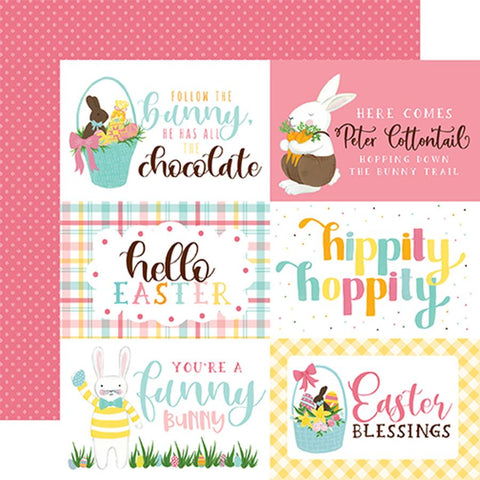 Echo Park I Love Easter 4X6 Journaling Cards Patterned Paper