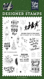 Echo Park Lost In Neverland Never Grow Up Designer Stamp Set