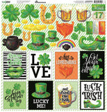 Reminisce Lucky Irish 12x12 Custom Sticker Sheet
