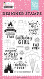 Echo Park Magical Birthday Girl Birthday Magic Designer Stamp Set