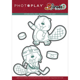 Photoplay Paper O Canada 2 Beaver Hockey Etched Metal Die Set