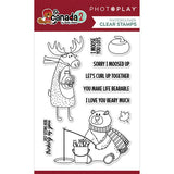 Photoplay Paper O Canada 2 Moose & Bear Clear Acrylic Stamp  Set
