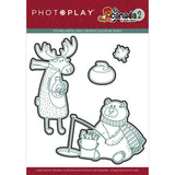 Photoplay Paper O Canada 2 Moose & Bear Etched Metal Die Set