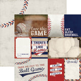 Paper House Productions All Star Baseball Tags Patterned Paper