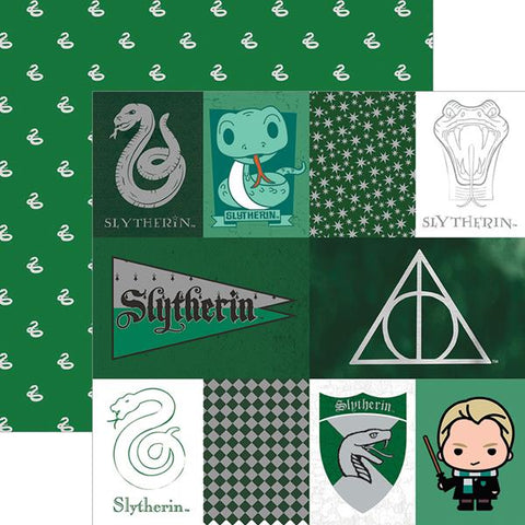 Paper House Productions Harry Potter Slytherin Patterned Paper