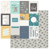 Photoplay Paper Snuggle UP Boy Dream Big 3x4 Cards Patterned Paper
