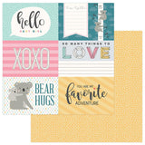 Photoplay Paper Snuggle UP Girl Hello Baby Girl 4x6 Cards Patterned Paper