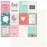 Photoplay Paper Snuggle UP Girl Loved Beyond Measure 3x4 Cards Patterned Paper