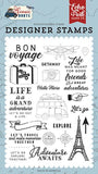 Echo Park Scenic Route Let's Go Travel Designer Stamp Set