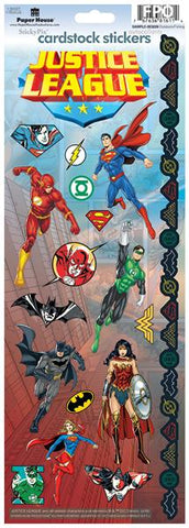 Paper House Productions Wonder Woman Justice League Cardstock Stickers