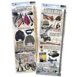 Paper House Productions Civil War Cardstock Sticker Value Pack