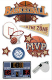 Paper House Productions All Star Basketball Dimensional Stickers
