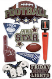 Paper House Productions All Star Football Dimensional Stickers