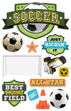 Paper House Productions All Star Soccer Champ Dimensional Stickers