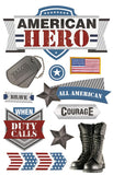 Paper House Productions Heroes American Hero 2 Dimensional Stickers