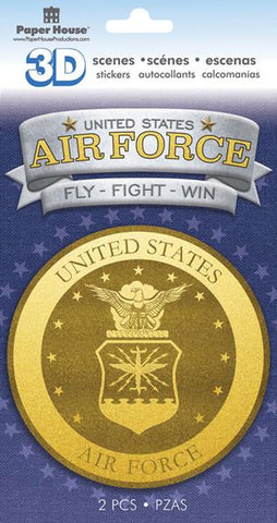 Paper House Productions Heroes Air Force Emblem Dimensional Stickers