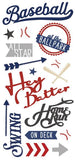 Paper House Productions All Star Baseball Hey Batter Puffy Stickers