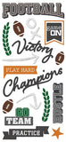 Paper House Productions All Star Football Play Hard Puffy Stickers
