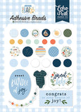 Echo Park Welcome Baby Boy Adhesive Brad Embellishments
