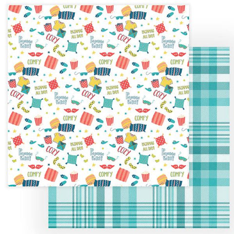 Photoplay Paper We Can Just Stay Home PJ's All Day  Patterned Paper
