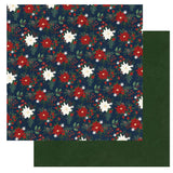 Photoplay Paper Winter Memories Poinsettias Patterned Paper