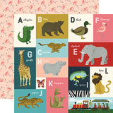 Echo Park Animal Safari A-L Animal Alphabet Cards Patterned Paper