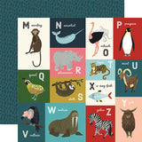Echo Park Animal Safari M-Z Animal Alphabet Cards Patterned Paper