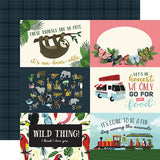 Echo Park Animal Safari 4x6 Journaling Cards Patterned Paper