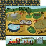 Echo Park Animal Safari Zoo Map Patterned Paper