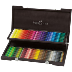"Faber Castell Color Pencils ""Polychromos"" Set of 120 in a Decorative Wooden Box - ucoomy"