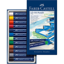 Oil pastel crayons STUDIO QUALITY box of 12 (#127012) - ucoomy