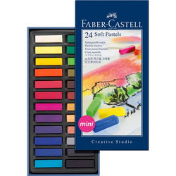 Soft pastel crayons STUDIO QUALITY mini box of 24 (#128224) - ucoomy