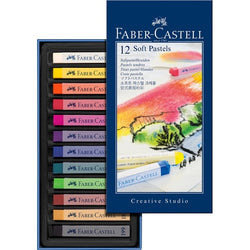 Soft pastel crayons STUDIO QUALITY box of 12 (#128312) - ucoomy