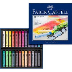 Soft pastel crayons STUDIO QUALITY box of 24 (#128324) - ucoomy