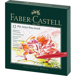 Faber Castell India Ink Pitt Artist Pen B Studio Box Of 12 - ucoomy