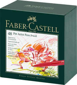 Faber Castell India Ink Pitt Artist Pen B Studio Box Of 48 - ucoomy