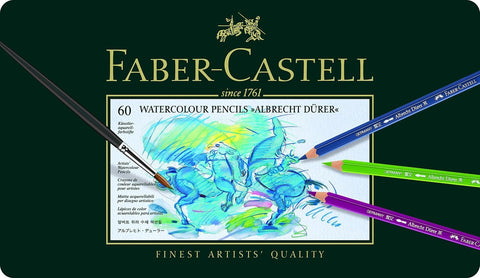 "Faber Castell Watercolor Pencils ""Albrecht Durer"" Tin Of 60 - ucoomy"