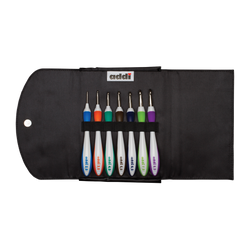 addi Swing Wool Crochet Hooks Set of 7 with Case - ucoomy