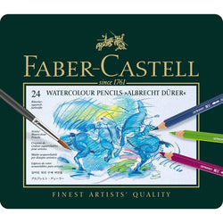 "Faber Castell Watercolor Pencils ""Albrecht Durer"" Tin Of 24 - ucoomy"