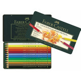 "Faber Castell Color Pencils ""Polychromos""  Tin of 12 - ucoomy"